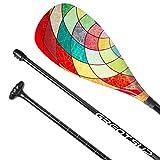 Great SUP Pure 100% Carbon Fiber SUP Paddle - 3-Piece Adjustable Paddle with Protect Bag - Premium Carbon Fiber Series
