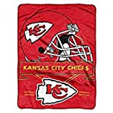 "Officially Licensed NFL Kansas City Chiefs ""Prestige"" Plush Raschel Throw Blanket, 60″ x 80″"