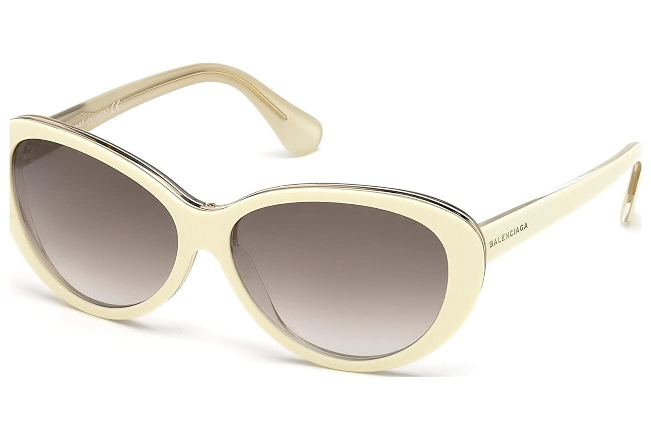 Gafas de sol polarizadas Balenciaga BA0005 C59 24F (white/other / gradient brown): Amazon.es: Ropa y accesorios