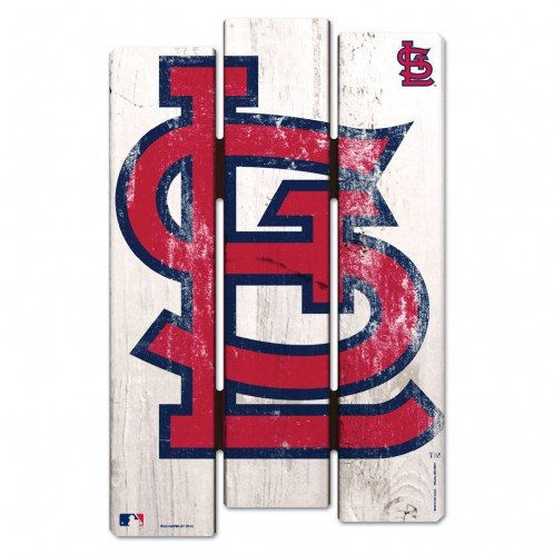Wincraft MLB St. Louis Cardinals Wood Fence Sign, Black