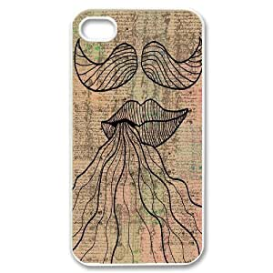 Mustache Design Discount Personalized Hard Case Cover for iPhone 4,4S, Mustache iPhone 4,4S Cover