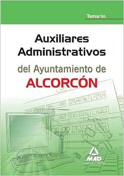 Book Auxiliares Administrativos del Ayuntamiento de Alcorcón. Temario (Spanish Edition)