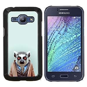 EJOOY---Cubierta de la caja de protección para la piel dura ** Samsung Galaxy J1 J100 ** --Hipster Leemur en el juego