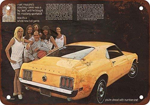 USTB 1970 Mustang, diseño clásico de reproducción Tin Sign – Placa de Metal 30,5 x 45,7 cm