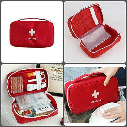 Equipo portátil de primeros auxilios de supervivencia portátil Kit de tratamiento vacío Bolsa médica de rescate para el hogar ideal para el hogar | Oficina | Viaje | Camping | Deporte | Mochilero | Se