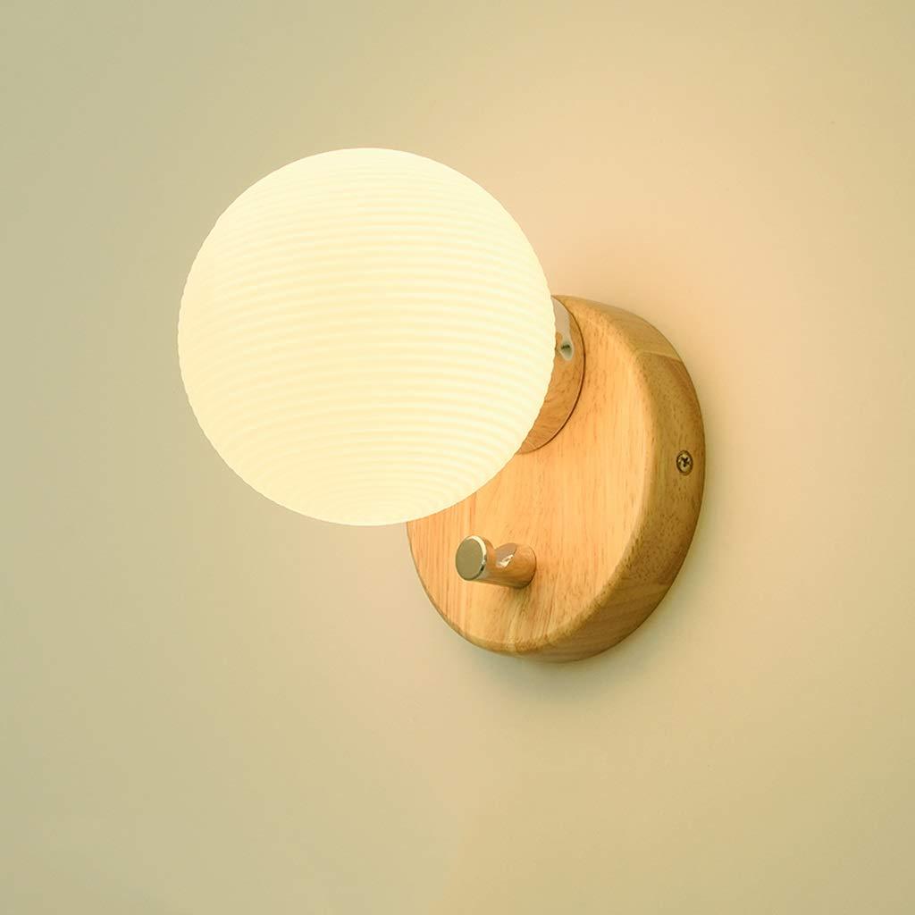 F Damahou Mode Moderne Led Massivholz Wandleuchte Kreative Wohnzimmer Gang Treppe Lampe Schlafzimmer Nachttischlampe (Größe   D)