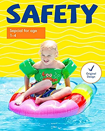 Dark Lightning Kids Life Vest,Floatie up to 50 Pounds Toddler Swim Vest with Water Wings for Girls and Boys,Children Floatation Device for Puddle//Beach,Play Like Jumper