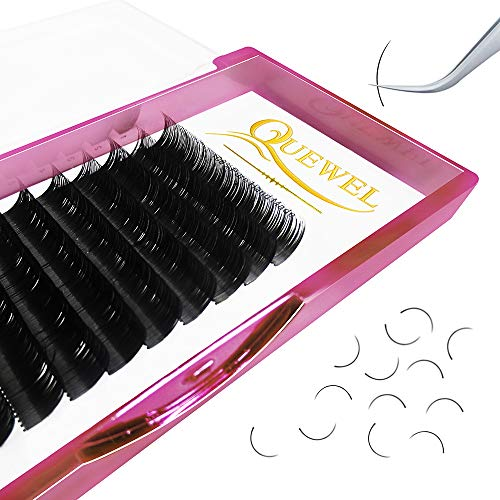 Handmade Soft Natural Mink Eyelash Extensions 0.07 Curl C/D Length From 6MM To 18MM Soft Individual Lashes Tray For Eyelash Extensions(0.07 D Curl, 16mm)