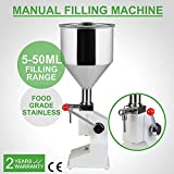 A03 Manual Liquid Paste Filling Machine 5-50ml for Water Oil Cream Shampoo Cosmetic Filler