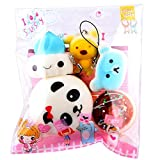 Jumbo Squishy Kawaii Cute Bread Toys Cream Scented Squishies Slow Rising Decompression Squeeze Toys For Kids or Stress Relief Toy Hop Props, Franterd Decorative Props (5PC)