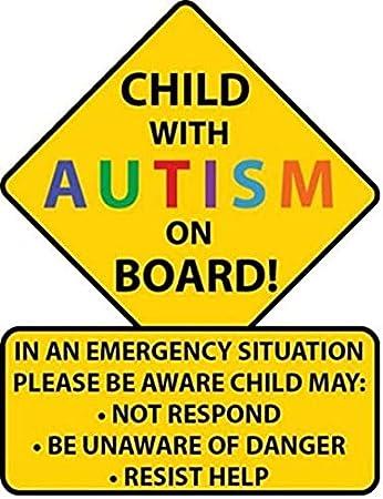 Alert Responder Child Autism Car Truck Decal Sticker
