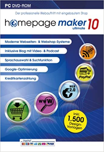 homepage maker 10 ultimate  Für Microsoft Windows 8, 7
