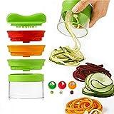 Vegetable Spiralizer,3 Blades Handheld Spiral Slicer Portable...