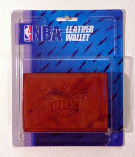 Rico NBA Phoenix Suns Embossed Leather Trifold Wallet with Man Made Interior by Rico