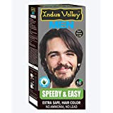 Indus Valley Extra Safe Natural Speedy & Easy Men's Dark Brown 3.0 Hair Color For Dark Shiny Hair
