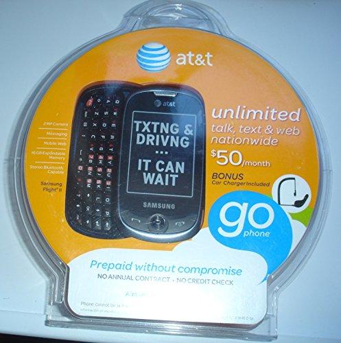 AT&T GoPhone Samsung Flight II A927 3G Touchscreen / QWERTY Slider Phone - Gray Prepaid Go ()