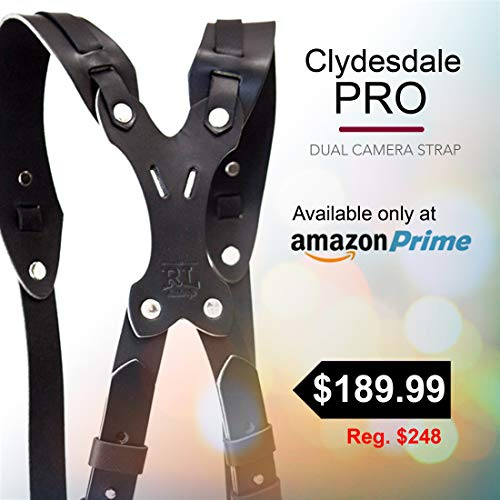 Clydesdale Pro-Dual Handmade Leather Camera Harness, Sling & Strap RL Handcrafts. DLSR, Mirrorless, Point & Shoot Made in The USA (Black, X-Large) by Republic Leather Company (Image #6)