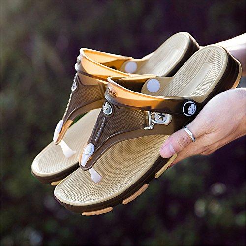 de Marrón Zapatos Plano los Hombres resbalón del Plano la Manera Deporte talón talón sin Cordones de del de del resbalón del qwUHgqRaTW