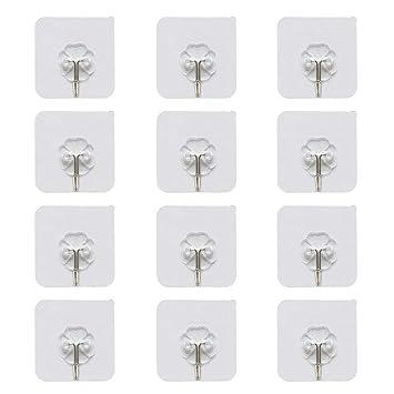 Huisen - Ganchos de plástico autoadhesivos para puerta de baño, toalla de cocina, baño, abrigos de albornoz (4 piezas): Amazon.es: Bricolaje y herramientas