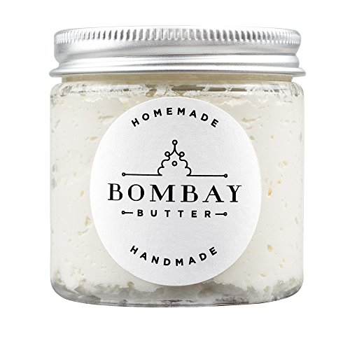 Bombay Butter's Vegan Body Butter (Triple Whipped)—made with mango butter, shea butter, kokum butter, coconut oil, avocado oil, and jojoba oil—Great alternative to lotions and creams—4oz Mango Shea Butter Lotion