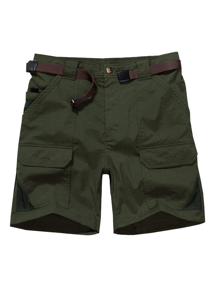 Toomett Men's Outdoor Lightweight Hiking Shorts Quick Dry Shorts Sports Casual Shorts 6018,Army Green,US 34 by Toomett
