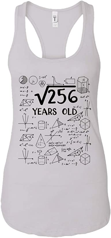 Hhlstore Square Root Of 256 16 Years Old Shirt 16th Birthday Gift Amazon Com