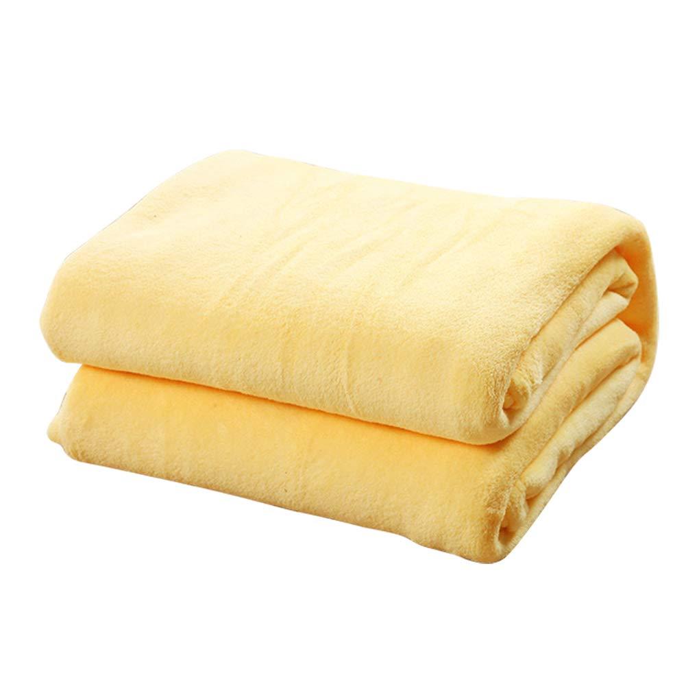 TREESTAR Mantas de beb/é para ni/ños oto/ño e Invierno beb/é reci/én Nacido Copo de Nieve peque/ña Manta de Pelo Manta de Siesta Size 50 Yellow 70CM
