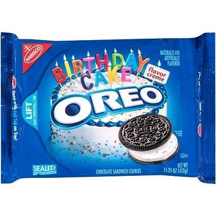 Pleasing Nabisco Oreo Birthday Cake Creme Chocolate Cookie 15 25Oz Bag Birthday Cards Printable Trancafe Filternl