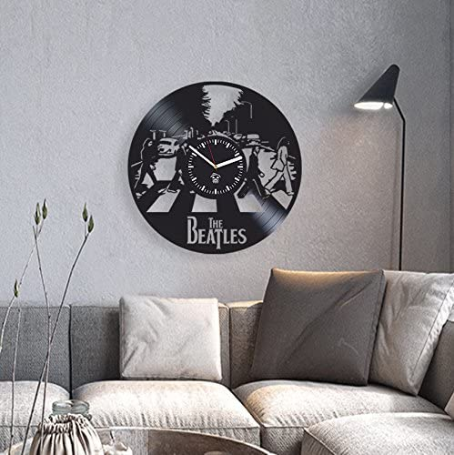 Music LP Vinyl Record Wall Clock Large Modern Home Decor Original Wall Art Fan Gift