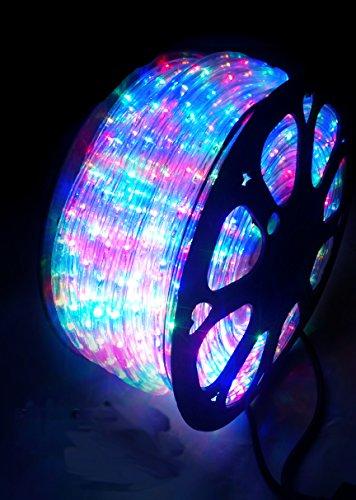 TUBO LUMINOSO 1584LED - 44MT - LED MULTICOLORE CON CONTROLLER GIOCO LUCI PER USO ESTERNO