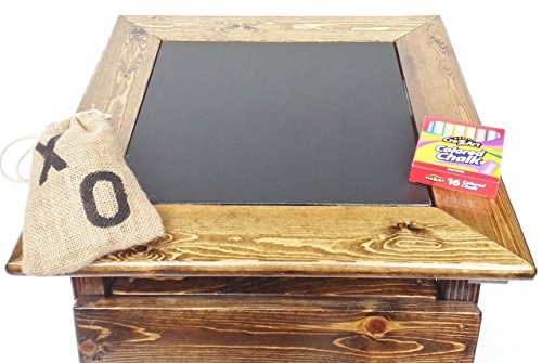 Kids Tic Tac Toe and Chalkboard, 2-sided game board, Solid Wooden Game and Activity Table, Children's Furniture, Toddler Boy or Girl by Happy Chairs and More (Image #2)