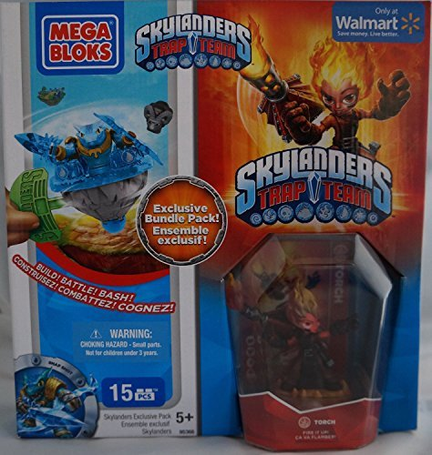 Mega Bloks Skylanders Trap Team Hero Packs Torch Exclusive Bundle Pack -