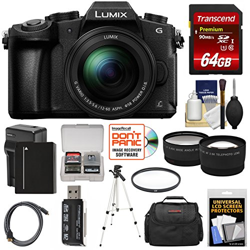 Panasonic Lumix DMC-G85 4K Wi-Fi Digital Camera & 12-60mm Lens with 64GB Card + Battery & Charger + Case + Tripod + Filter + Tele & Wide Lens Kit Review