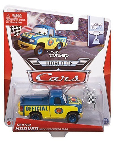 Pixar Disney Cars 1:55 Scale Diecast Dexter Hoover with Checkered Flag Metal Toys