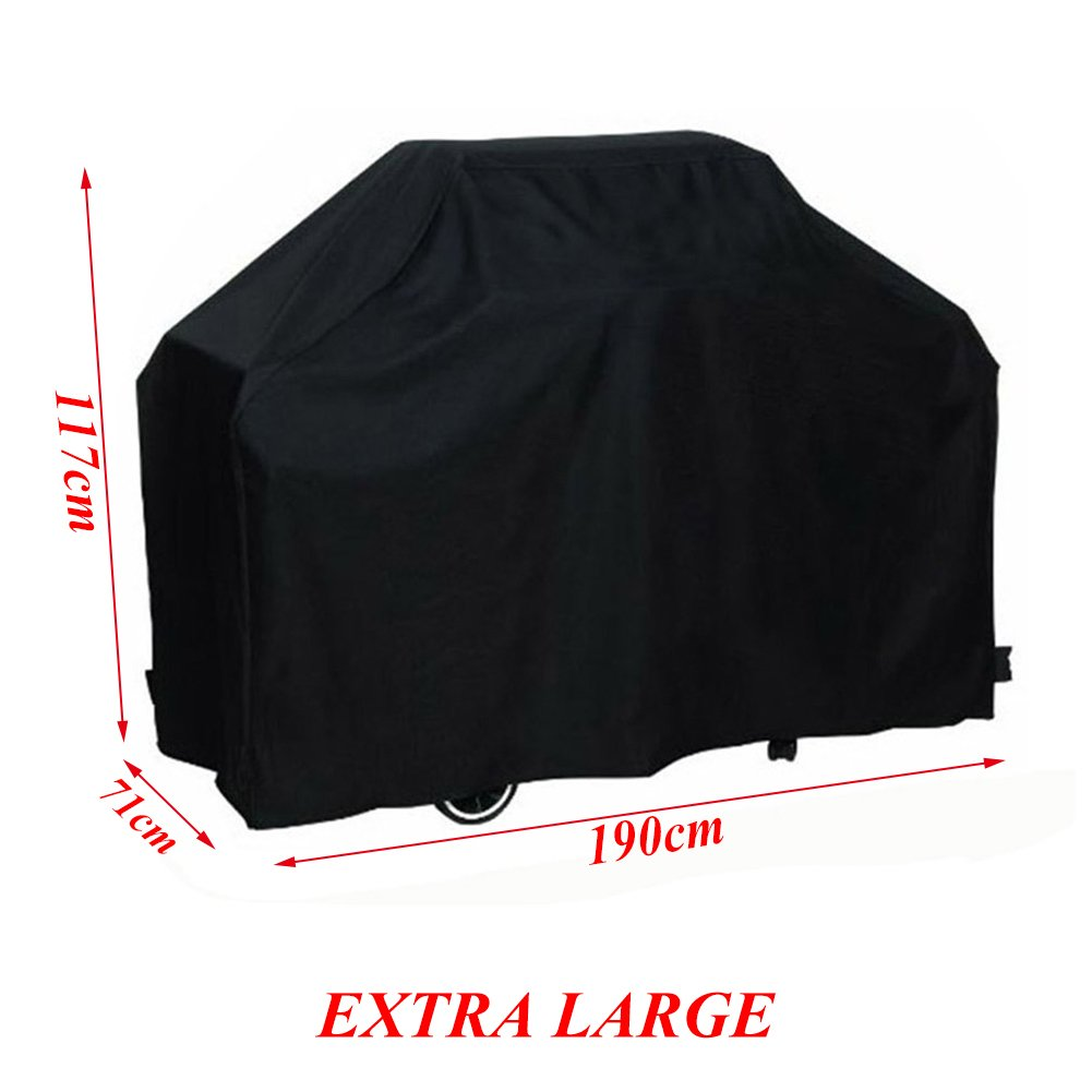 LITTLEGRASS BBQ Grill Cover 74x24x46'' Outdoor Patio Garden Gas Barbecue Smoker Cover Waterproof UV Resistant with Elastic Strap and Storage Bag for Weber, Holland, JennAir, Brinkmann and Char Broil by LITTLEGRASS (Image #1)