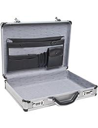"SPC-931R 17.5"" x 4"" x 13"" Silver Aluminum Briefcase"