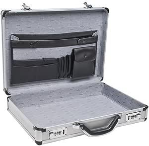 """RoadPro SPC-931R 17.5"""" x 4"""" x 13"""" Silver Aluminum Briefcase"""