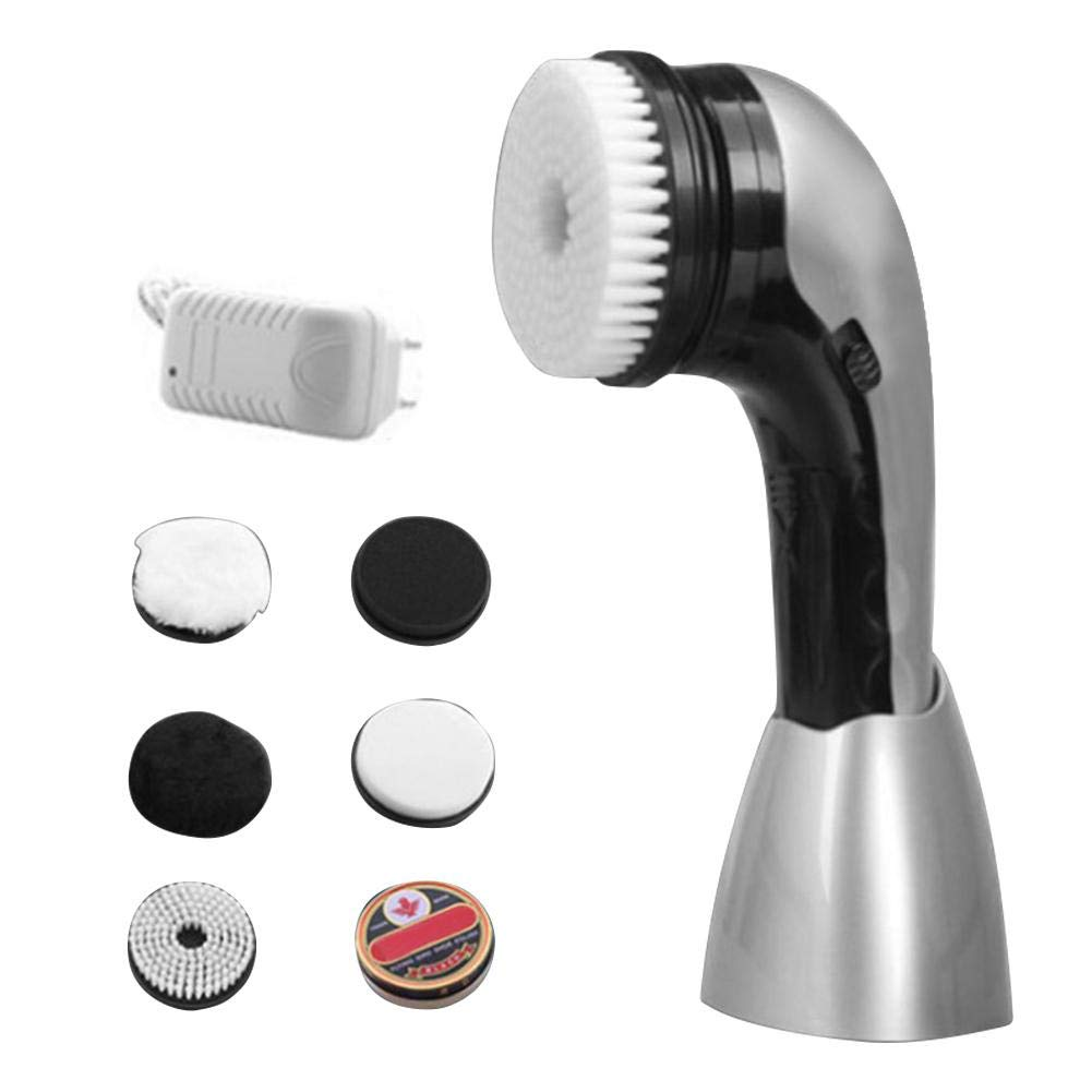 Electric Shoe Polisher Machine, Cordless Power Scrubber with Brush, Shine Kit for Leather Cleaning, Oiling and Polishing