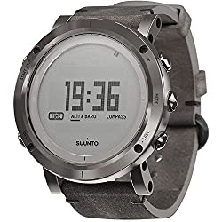 Suunto Essential Digital Dial Smoke SS Leather Quartz Ladies Watch SS021216000