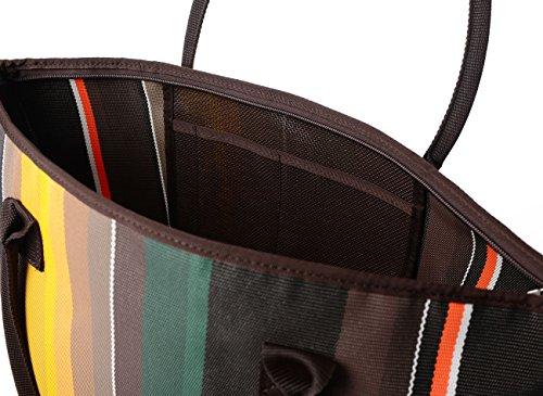 Borsone donna a spalla o a tracolla con chiusura zip e tasca interna da viaggio, Waterview Molara