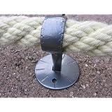 Seilträger Schmiedeeisen für 30 mm Handlaufseil (Handlauf- / Absperrseile)