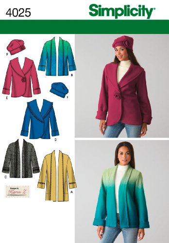 - Simplicity Sewing Pattern 4025 Misses Jacket and Hat, A (XS-S-M-L-XL)