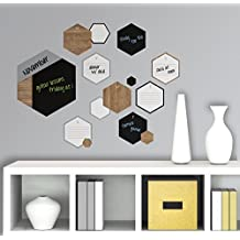 RoomMates RMK2828SCS Hexagon Chalk and Dry Erase Calendar Peel and Stick Wall Decals