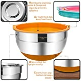 Mixing Bowls with Airtight Lids, 6 piece Stainless