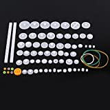 Plastic Motor Gears DIY Robot Gear Kit Pulley Belt Single and Double Crown Worm Gears Set for DIY Car Robot (75 Kinds )