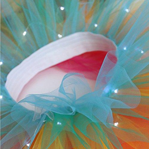 Jupe Light Jupe Ballet Romantique Courte Mode Duanmei Vert LED Jupe Clair Jupe Danse Jupe Tutu Tulle Jupe Jupe Shining nqXRRp5C