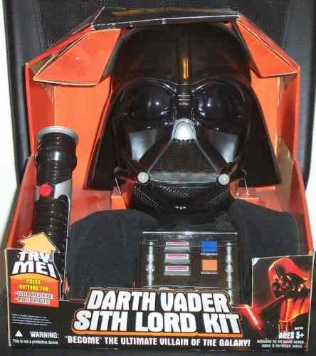 Star Wars Ultimate BECOME DARTH VADER KIT with Electronic Voice Changer Helmet, Electronic Sounds Chestplate, Electronic Light & Sounds Lightsaber & Cape by Hasbro