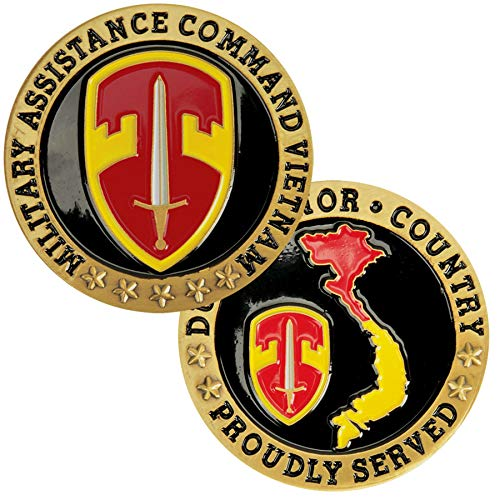 (Medals of America Military Assistance Command Vietnam Challenge Coin Gold)