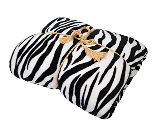 Napa Super Soft Plush Bed Blanket Zebra Queen Size for sale  Delivered anywhere in USA