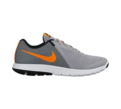 Nike Men's Grey Total Orange Black White Running Shoes - 12 D(M) US